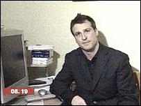 Richard Westcott at computer