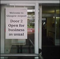 Glasgow Airport door