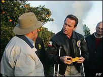 El gobernador de California, Arnold Schwarzenegger