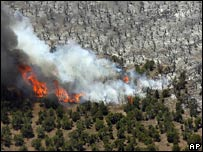 Fire near Fillmore, Utah, 8 July 2007