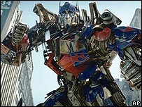 A scene from Transformers