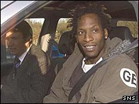 Ugo Ehiogu arrives at Rangers' Murray Park training ground