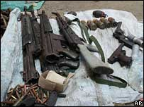 Weapons seized in Somalia