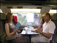 The West family on Eurostar