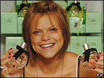 Jade Goody promoting her perfume
