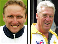 Allan Donald (left) and Bob Woolmer