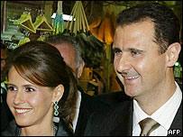 Syrian President Bashar al-Assad and his wife Asma