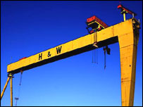 Samson and Goliath are a symbol of Belfast's history