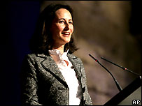 Segolene Royal has her own political site