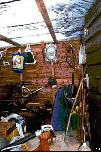 inside the shed