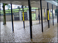 Sydney Smith School under water