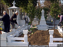 Grave prepared for Hrant Dink