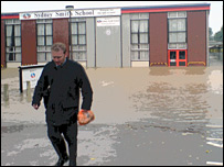 The flooded Sydney Smith School