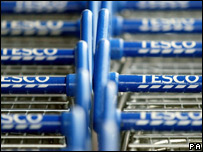 Tesco shopping trolley