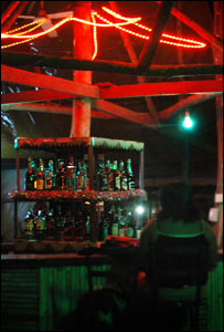 Woman in a bar in Juba
