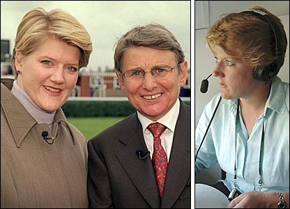 Clare Balding pictured with Willie Carson