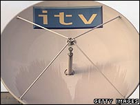ITV logo on satellite dish