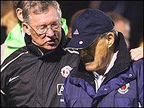 English football's longest-serving bosses - Sir Alex Ferguson and Dario Gradi