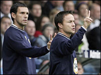 Gus Poyet and Dennis Wise