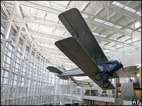 Biplane in Seattle-Tacoma airport terminal  Image: AP