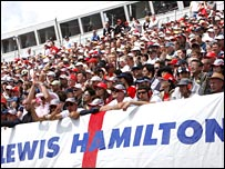 Spectators at the British Grand Prix