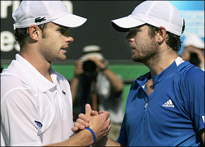 Andy Roddick and Mardy Fish