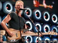 Sting at Live Earth in New Jersey