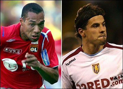 John Carew and Milan Baros
