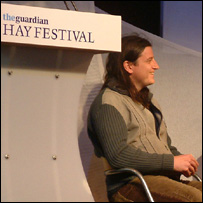 Llwyd Owen at the Hay festival