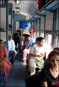 India train passengers