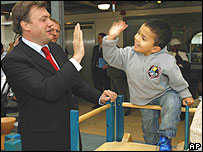 Ed Balls visits a children's centre