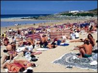 Fistral beach: Pic RNLI