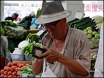 Chinese market shopper