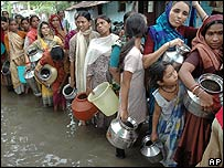 Flood victims in Gujarat