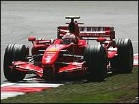 Kimi Raikkonen's Ferrari at Silverstone