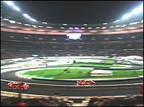 Kovalainen beat Michael Schumacher and world rally champion Sebastien Loeb on his way to winning the 2004 Race of Champions