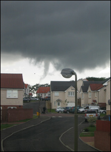 Tornado over houses in Armadale