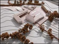 model of the planned academy