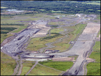 Aerial view of the Ffos Las site