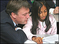 Ed Balls in school