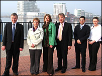 Ieuan Wyn Jones with 2007 Plaid election candidates