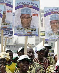 Supporters of Nigerian Vice-President Atiku Abubakar