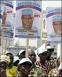 Supporters of Nigerian Vice-President Atiku Abubakar