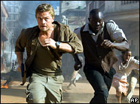 Leonardo DiCaprio and Djimon Hounsou in Blood Diamond