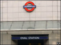 Oval tube station