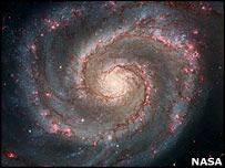 M51 (the whirlpool galaxy). (Image: Nasa/Esa/Hubble Heritage Team)