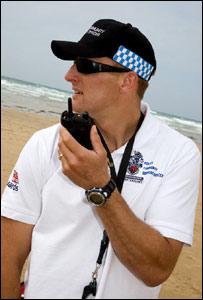 Fistral beach PCSO Matt Thomas: Pic RNLI