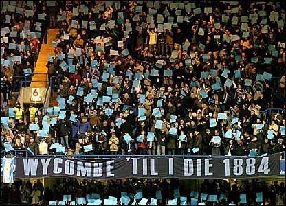 Wycombe fans at Stamford Bridge