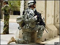 US soldier in Baghdad - 10/7/2007