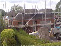 A house being built